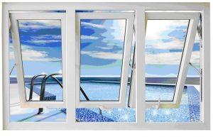 cửa sổ nhựa lõi thép 3 cánh mở hất
