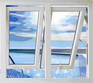cửa sổ nhựa lõi thép 2 cánh mở hất
